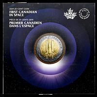 Kanada 2019 25 Cent Erster Kanadier im Weltraum - im Blister Trimetall Stgl.