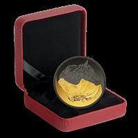 Kanada 2020 20 Dollar SchwarzundGold - Kan. Pferd m. Rhodium- u. Goldauflage PP