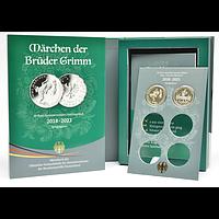Deutschland 2019 20 Euro Münzsammelbuch Märchen der Brüder Grimm inkl 20 Euro Froschkönig und Tapferes Schneiderlein PP