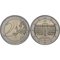 2 Euro Brandenburg 2020 J bfr Deutschland