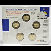2 Euro Brandenburg Komplettsatz 2020 Stgl. Deutschland