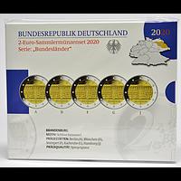 2 Euro Brandenburg Komplettsatz 2020 PP Deutschland