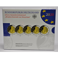 2 Euro Kniefall von Warschau Komplettsatz 2020 PP Deutschland