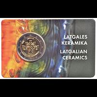 2 Euro Keramik 2020 Stgl. Lettland Coincard