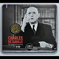 2 Euro de Gaulle 2020 Stgl. Frankreich im Blister