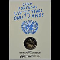 2 Euro Vereinte Nationen UNO 2020 Stgl. Portugal Coincard