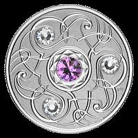 Kanada 2020 5 Dollar Geburtsstein Februar mit Swarowskikristall PP