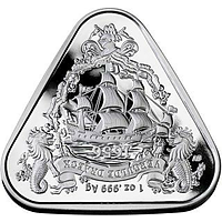 Australien 2020 1 Dollar Segelschiff Gilt Dragon - Dreiecksmünze 1 oz Stgl.