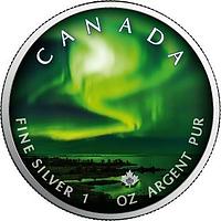 Kanada 2020 5 Dollar Maple Leaf - Nordlichter Yellowknife Yukon #2 Stgl.