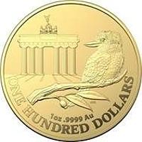 Australien 2020 100 Dollar WMF-Berlin - Brandenburger Tor 1 oz in Kapsel Stgl.