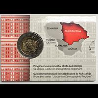 2 Euro Oberlitauen 2020 Stgl. Litauen Coincard