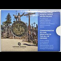 2 Euro Berg der Kreuze 2020 Stgl. Litauen Coincard
