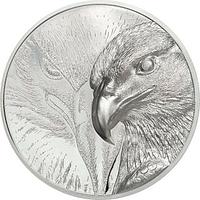Mongolei 2020 2000 T Majestic Eagle - im Etui 3 oz PP