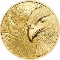 Mongolei 2020 1000 T Majestic Eagle - im Etui 1/10 oz PP