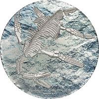 Mongolei 2020 2000 T Plesiosaurier - Fossil im Etui 3 oz Stgl.