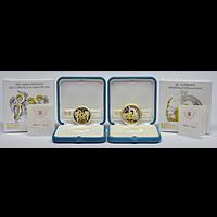 5+10 Euro vergoldet Vatikan 2019 PP