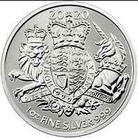 Großbritannien 2020 2 Pfund Royal Arms 1 oz Stgl.