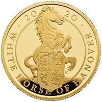 Großbritannien 2020 100 Pound The Queen´s Beasts #8 - Weißes Pferd von Hannover 1oz PP