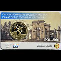 Belgien 2020 2,5 Euro 100 Jahre Olympische Spiele Antwerpen coloriert Stgl.