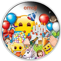 Tuvalu 2020 1 Dollar Emoji - Celebration 1 oz PP