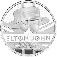 Großbritannien 2020 1 Pfund Elton John - Musiklegenden 1/2 oz PP