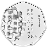 Großbritannien 2020 50 Pence Rosalind Franklin - Blister Stgl.