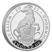 Großbritannien 2021 500 Pfund The Queen´s Beasts #10 - Greyhound PP