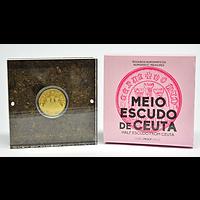 Portugal 2020 1,5 Euro Ceuta Halber Escudo PP