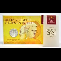 Österreich 2021 5 Euro Neujahrsmünze im Blister Stgl.