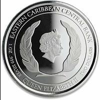 Saint Kitts 2020 2 Dollar Belagerung von Brimstone Stgl.