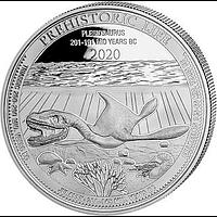 Kongo 2020 20 Fr Prehistorical Life - Plesiosaurus 1 oz Stgl.