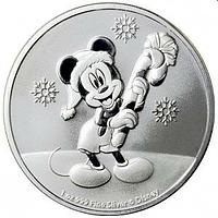 Niue 2020 2 Dollar Disney Mickey Mouse Weihnacht 1 oz Bullion Stgl.