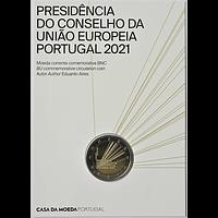 2 Euro EU-Präsidentschaft 2021 Stgl. Portugal Coincard