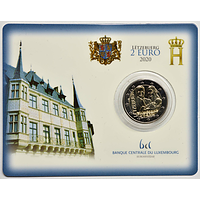 2 Euro Prinz Charles Coincard 2020 Stgl. Luxemburg