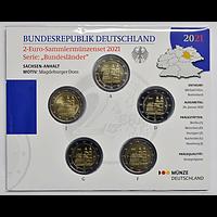 2 Euro Magdeburger Dom Komplettsatz Blister 2021 bfr Deutschland