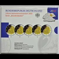 2 Euro Magdeburger Dom Komplettsatz Blister 2021 PP Deutschland