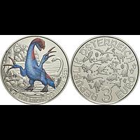 3 Euro Therizinosaurus 2021 Stgl. Österreich