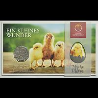 Österreich 2021 5 Euro Osterküken Stgl.
