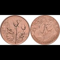 Österreich 2021 10 Euro Rose – Liebe und Verlangen bfr