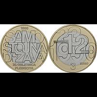 Slowenien 2020 3 Euro 30 Jahre Unabhängigkeit Stgl.