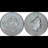 Niue 2021 2 Dollar Disney - Donald und Daisy 1 oz Bullion Stgl.