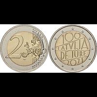 2 Euro Republik Lettland 2021 bfr