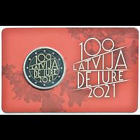 2 Euro Republik Lettland 2021 Stgl. Lettland Coincard