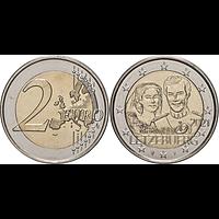 2 Euro Hochzeitstag Reliefprägung 2021 bfr Luxemburg