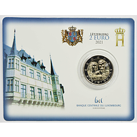 Luxemburg 2021 2 Euro 40. Hochzeitstag des großherzoglichen Paares Stgl.