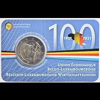 2 Euro Wirtschaftsunion 2021 Stgl. Belgien Coincard FR