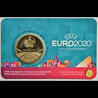Belgien 2021 2,5 Euro UEFA Fußball EM FR-Variante Stgl.