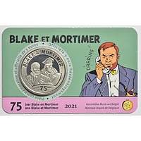 5 Euro Blake ortimer 2021 Stgl. Belgien Coincard