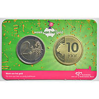 Niederlande 2021 2 Euro Kursmünze, 10 Jahre Woche des Geldes 2021 Stgl.