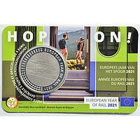 5 Euro Bahn 2021 Stgl. Belgien Coincard